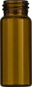 Screw neck vial, N 24, 27,5×72,5 mm, 30,0 ml, flat bottom, amber