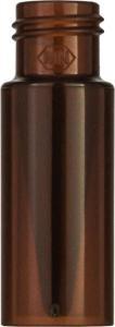 Screw neck vial, N 9, 11,6×32,0 mm, 0,3 ml, inner cone, PP amber