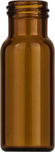 Screw neck vial, N 9, 11,6×32,0 mm, 1,5 ml, flat bottom, amber