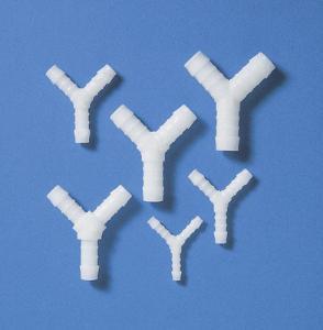 Tubing connectors, Y-shaped, POM