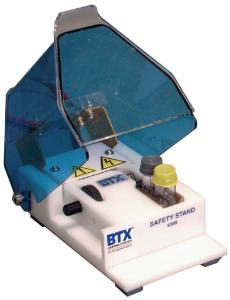 Safety stand for BTX generator and BTX cuvettes plus