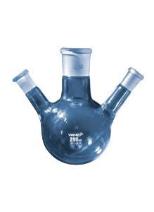 Flasks, round bottom, with three necks and standard ground joints