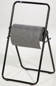 Adjustable roll dispenser for PIG® mat and wipe rolls