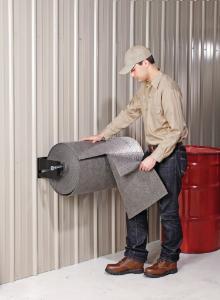 Wall-mount mat roll dispensers, PIG®