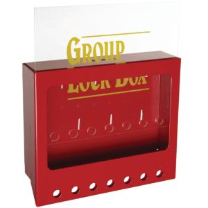 Group lockout boxes for wall-mounting