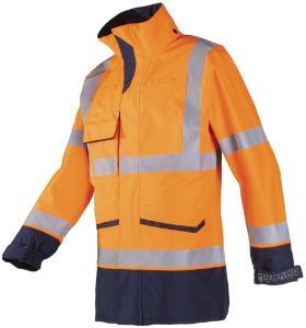 Flame-retardant rain jacket, high visibility, Falcon 7229