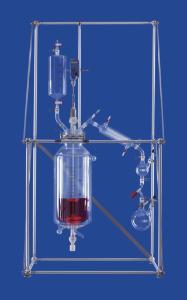 Reaction/distillation unit, one-way